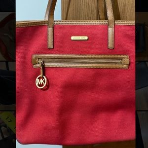 Canvas Michael Kors Tote Bag